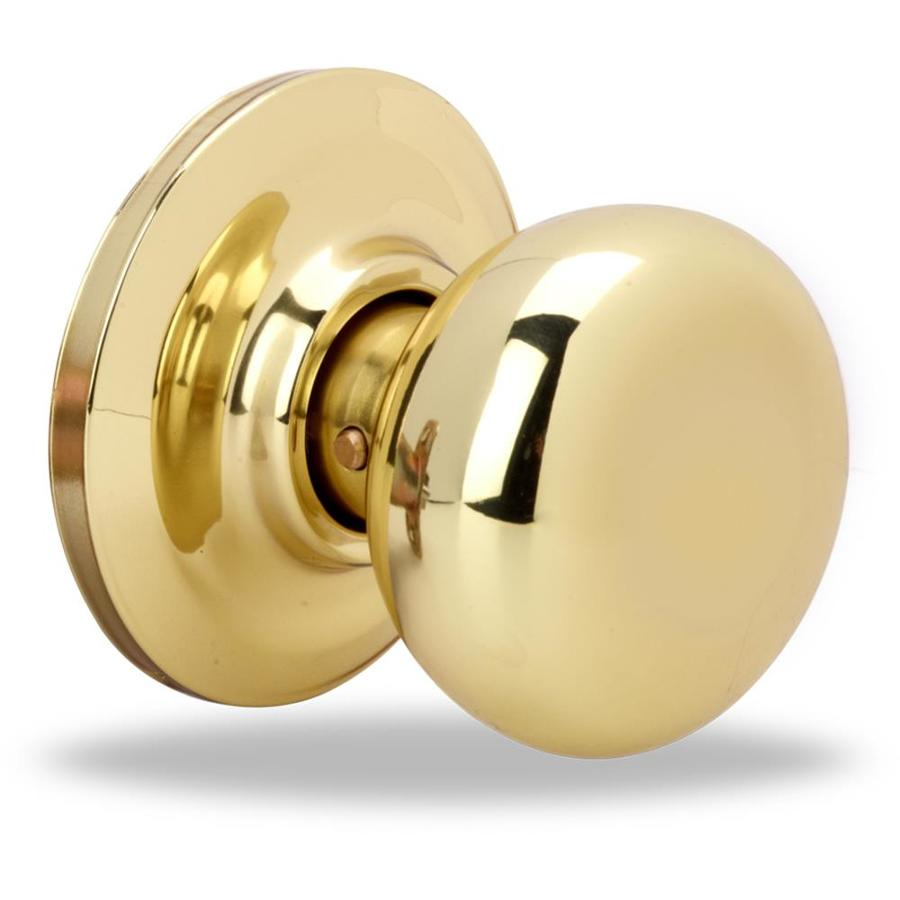 Yale Security YH Cambridge Polished Brass Round Passage Door Knob