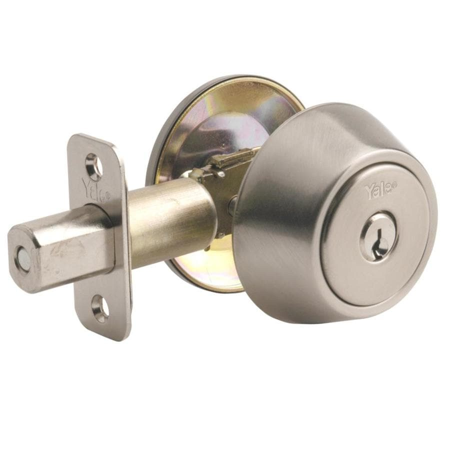 Yale Security 800 Series New Traditions Satin Nickel Single-Cylinder Deadbolt