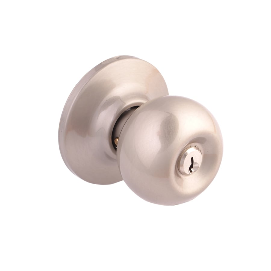 Yale Security New Traditions Cirrus Satin Nickel Round Keyed Entry Door Knob