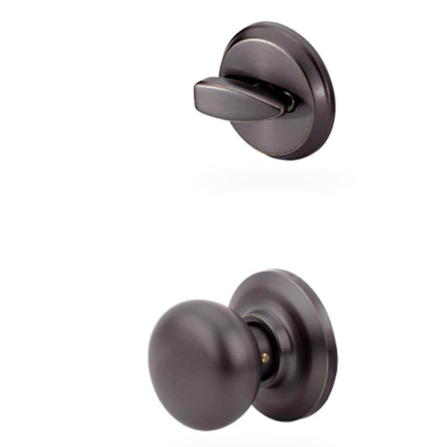 Yale Security Cambridge 1-3/4-in Oil-Rubbed Bronze Permanent Single Cylinder Knob Entry Door Interior Handle