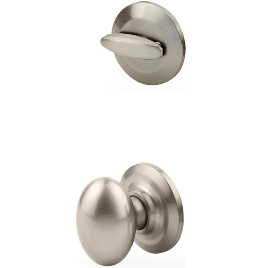 Yale Security Dartmouth 1-3/4-in Satin Nickel Single Cylinder Knob Entry Door Interior Handle