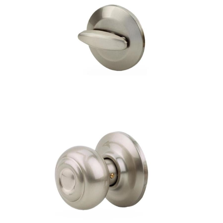 Yale Security Oxford 1-3/4-in Satin Nickel Single Cylinder Knob Entry Door Interior Handle
