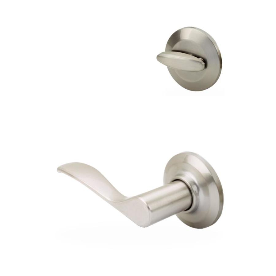 Yale Security Norwood 1-3/4-in Satin Nickel Single Cylinder Lever Entry Door Interior Handle
