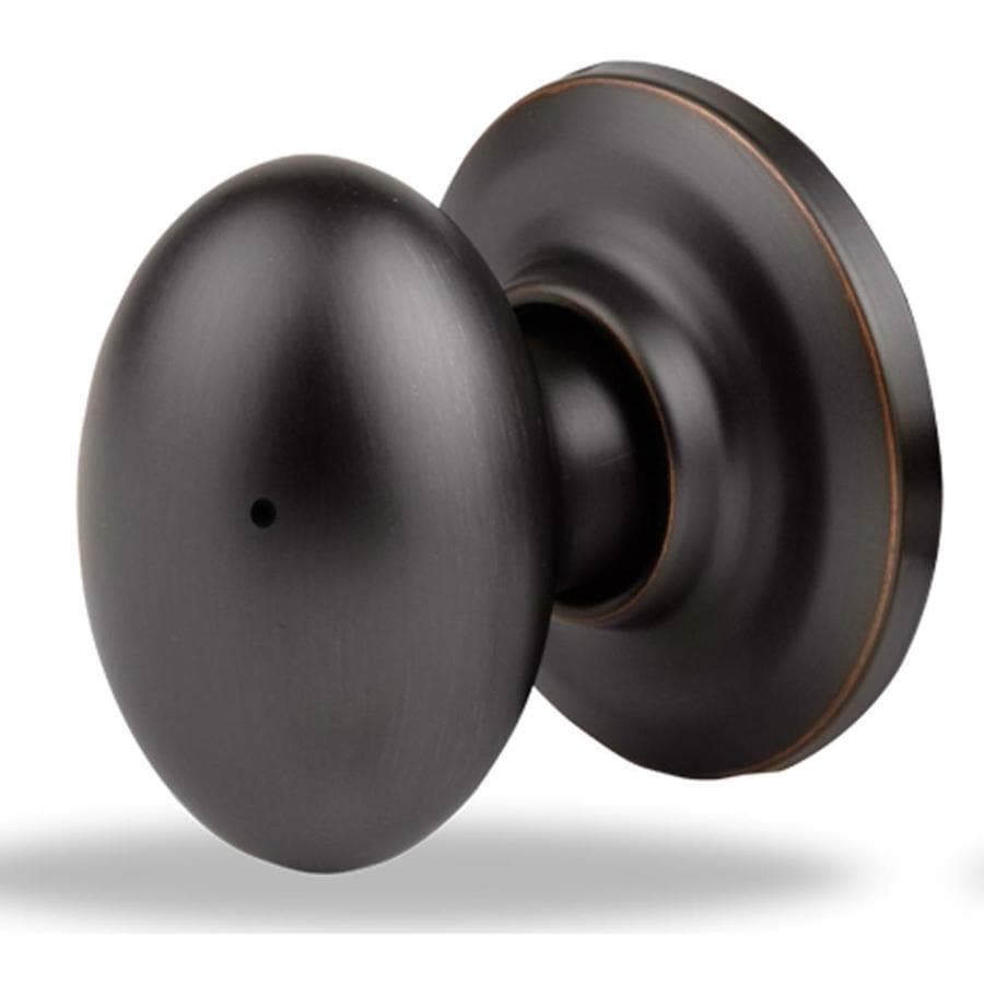 Yale Security YH Dartmouth Oil-Rubbed Bronze Permanent Egg Push Button-Lock Privacy Door Knob