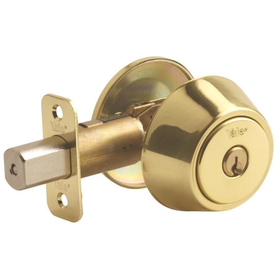Shop Yale Security Yh Polished Brass Single Cylinder