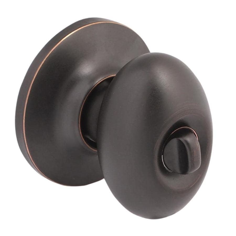 Yale Security New Traditions Terra Oil-Rubbed Bronze Permanent Egg Turn-Lock Privacy Door Knob