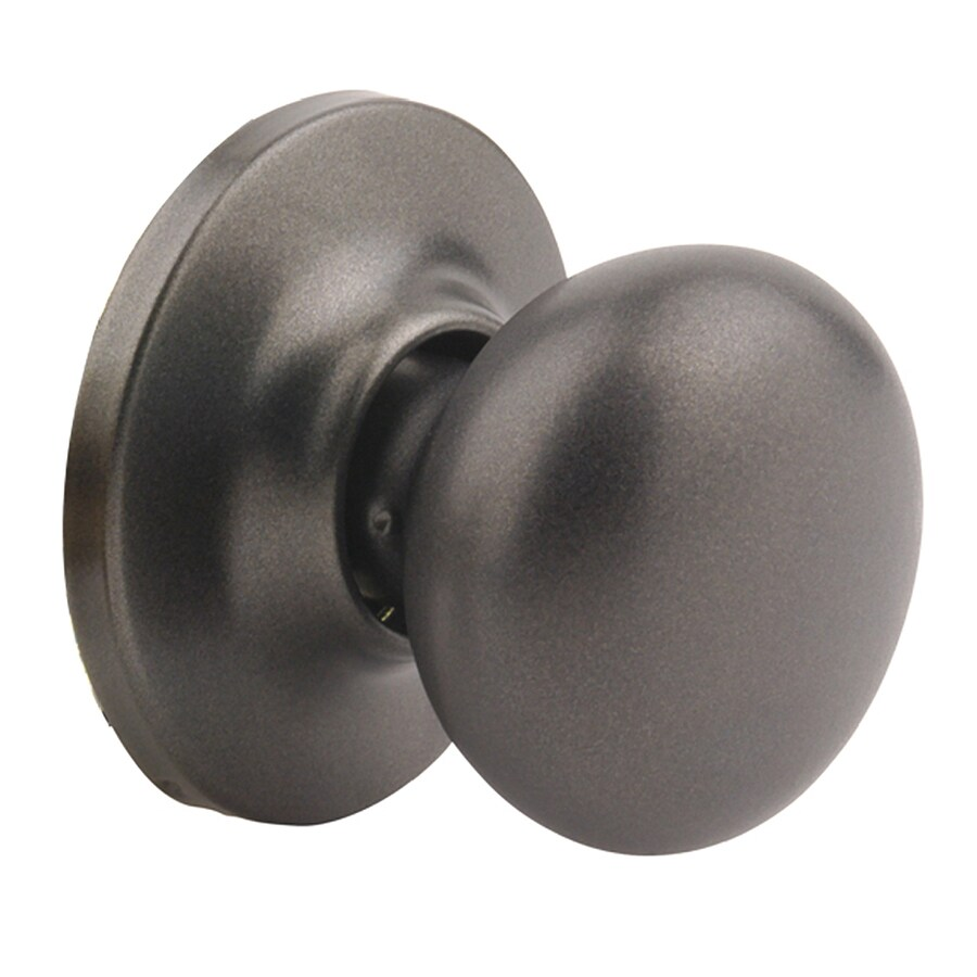 Shop Yale Security New Traditions Horizon Gun Metal Dummy Door Knob ...