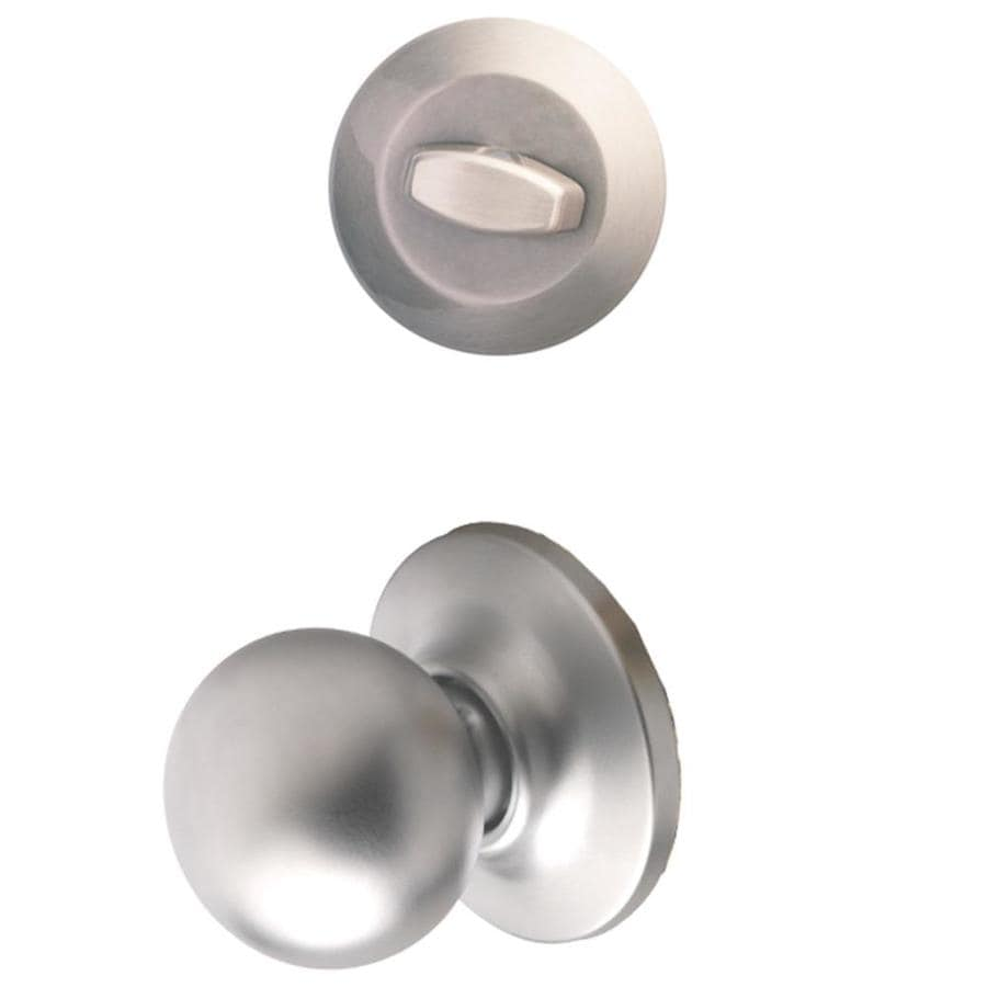 Yale Security Cirrus 1-3/4-in Satin Chrome Single Cylinder Knob Entry Door Interior Handle