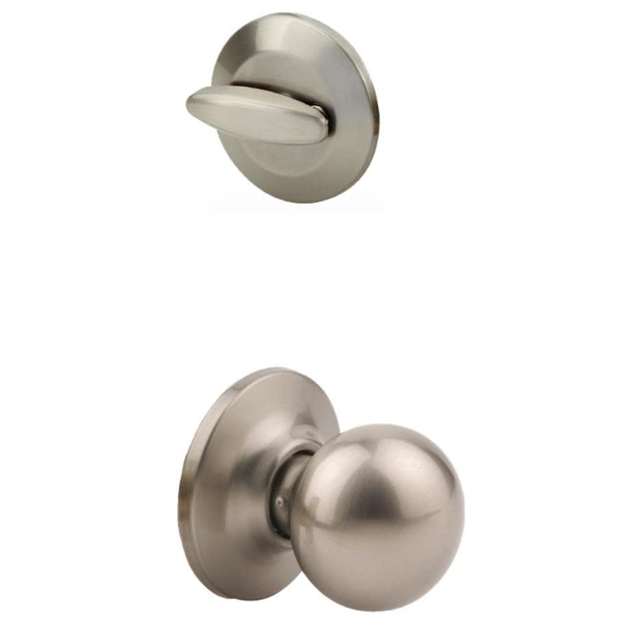 Yale Security Cirrus 1-3/4-in Satin Nickel Single Cylinder Knob Entry Door Interior Handle
