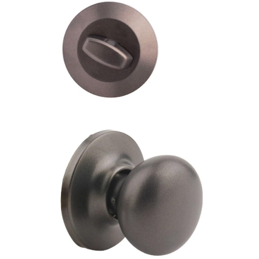 Yale Security Horizon 1-3/4-in Gun Metal Single Cylinder Knob Entry Door Interior Handle