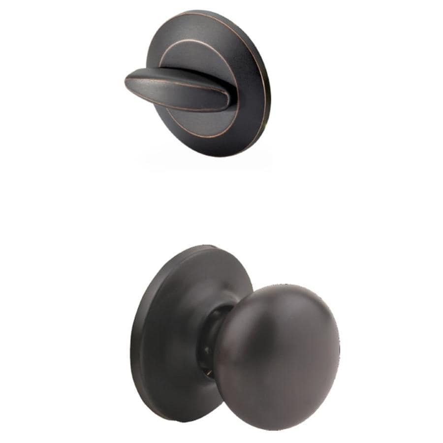 Yale Security Horizon 1-3/4-in Oil-Rubbed Bronze Permanent Single Cylinder Knob Entry Door Interior Handle