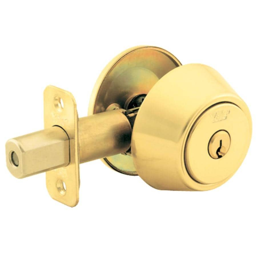 Yale Security 800 Series New Traditions Polished Brass Single-Cylinder Deadbolt