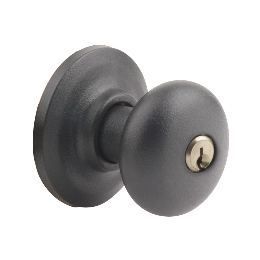 Yale Security YH Cambridge Textured Black Round Keyed Entry Door Knob