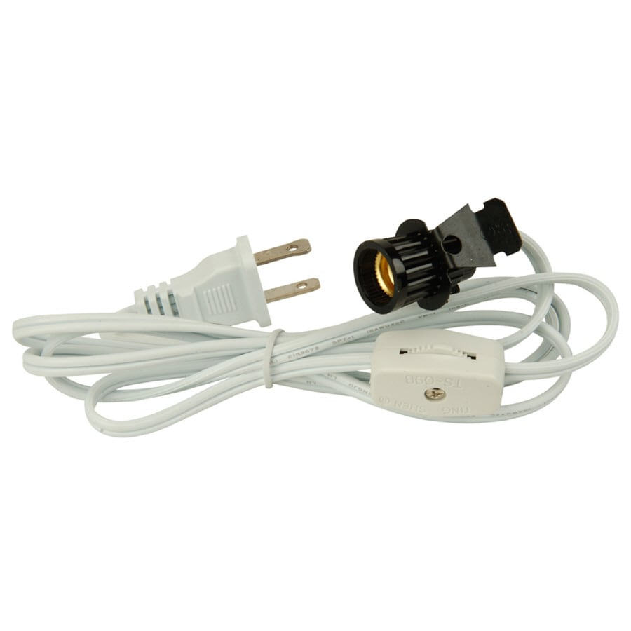 Lowes Wall Lamps With Cords : Shop Portfolio 7-ft 18-Awg White Lamp Cord at Lowes.com