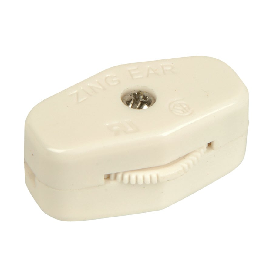 Portfolio White In-Line Cord Light Switch