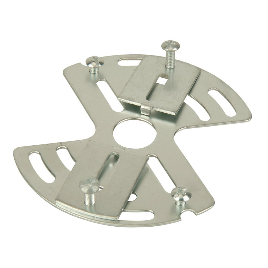 Shop ceiling light mounts at lowes portfolio silver metal ceiling light mount mozeypictures