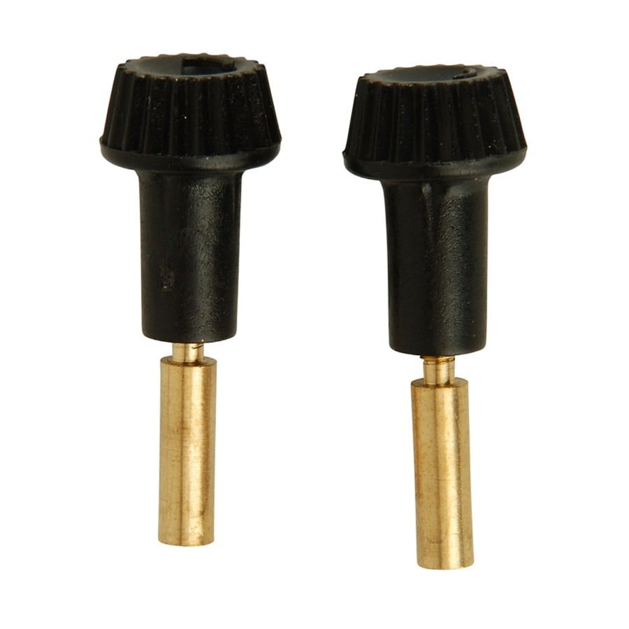 Portfolio 2-Pack Black/Polished Brass Lamp Switch Knobs