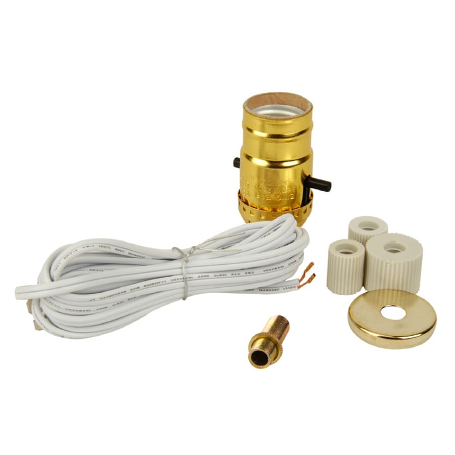 Lowes Wall Lamps With Cords : Shop Portfolio 250-Watt Gold Lamp Socket at Lowes.com