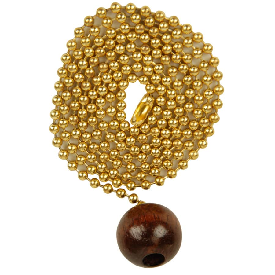 Portfolio Walnut/Polished Brass Pull Chain