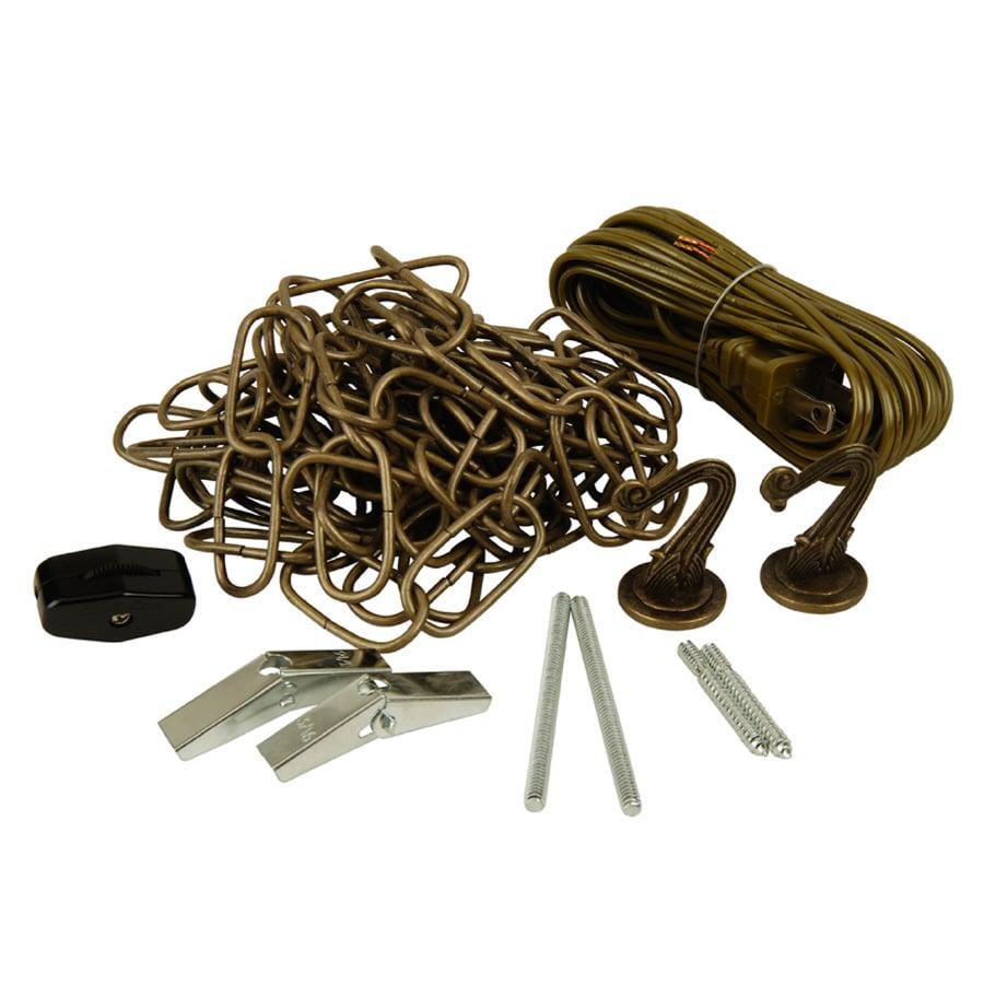 shop portfolio 12 ft antique brass lighting chain at
