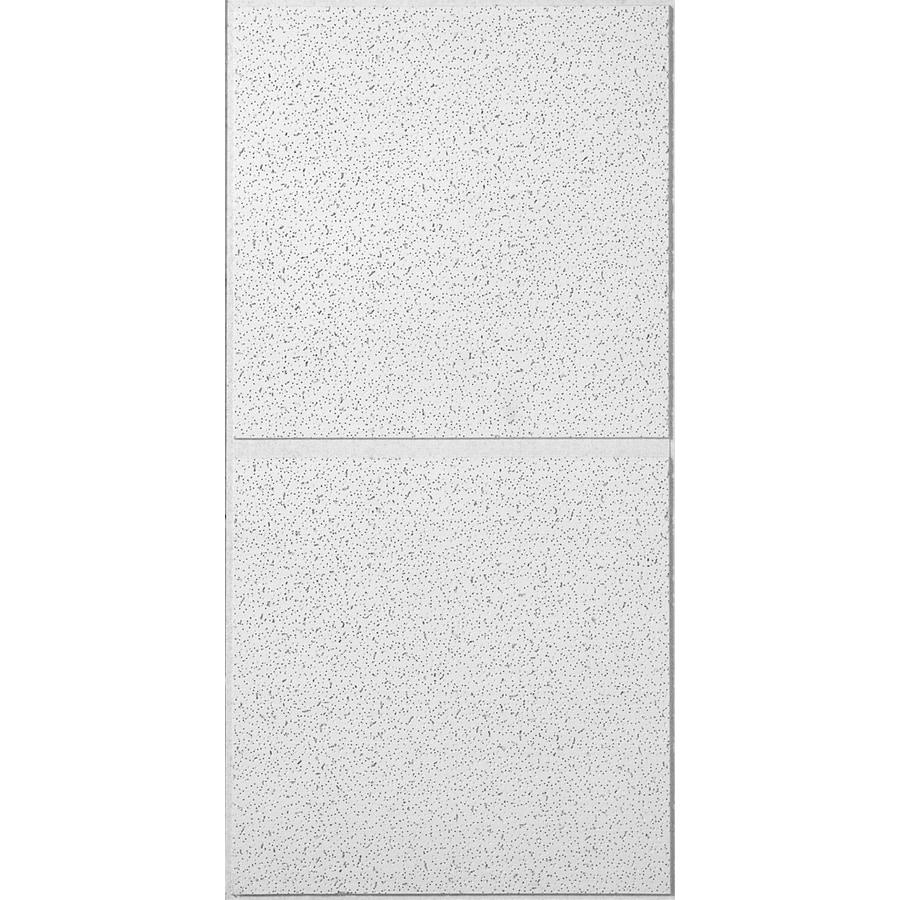 Shop USG Ceilings (Common: 48-in x 24-in; Actual: 47.75-in x 23.75-in) 6-Pack White Fissured 3/4 ...