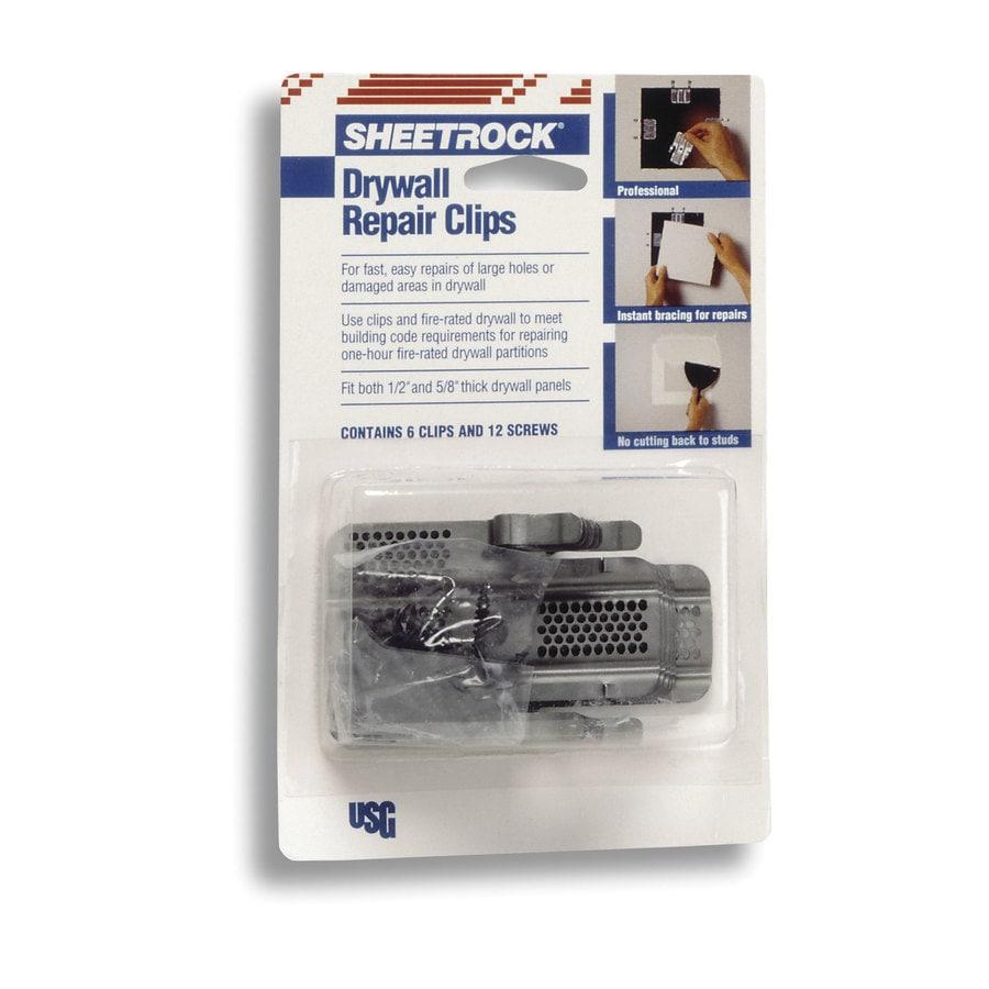 SHEETROCK Brand 6-Pack 1.25-in Steel Drywall Clips