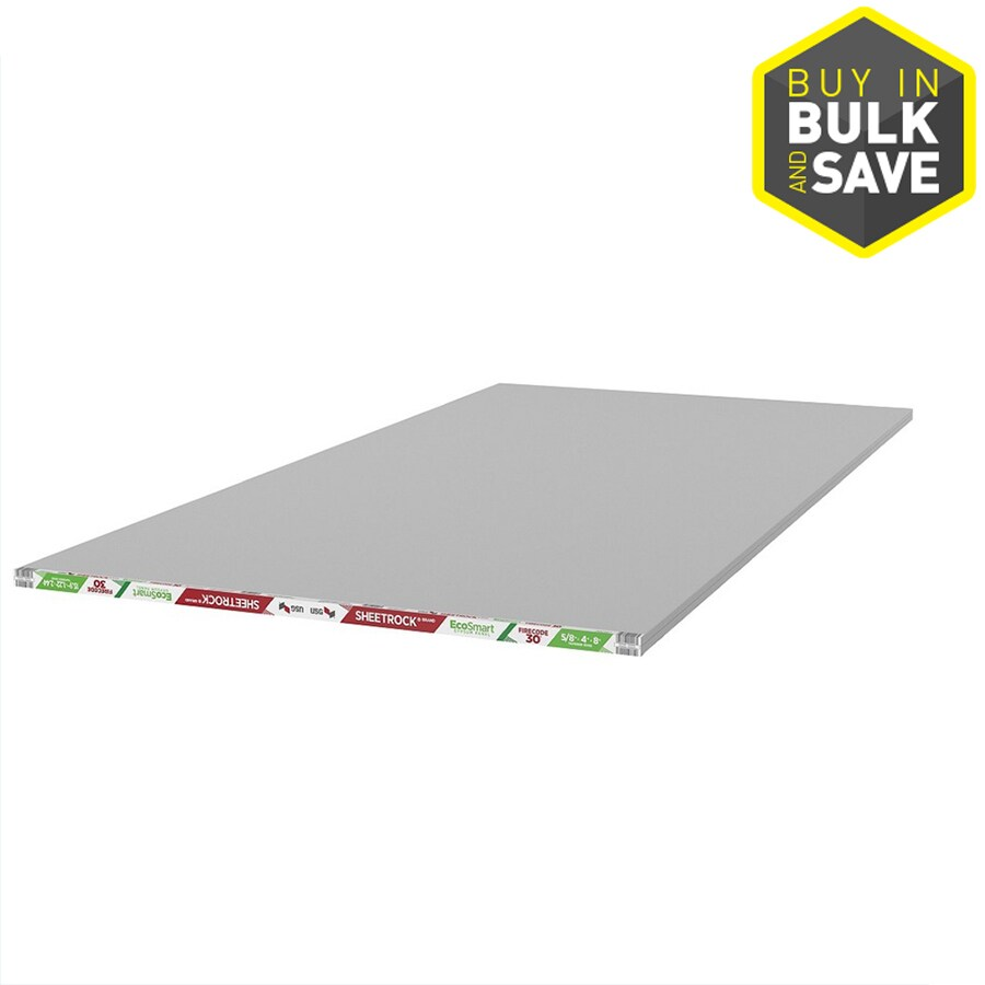 SHEETROCK Brand (Common: 5/8-in x 4-ft x 8-ft; Actual: 0.625-in x 4-ft x 8-ft) Drywall Panel