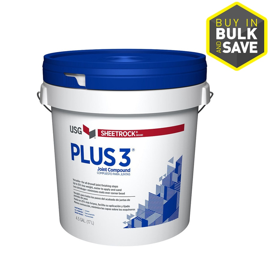 Shop sheetrock brand plus 3 4 5 gallon premixed for Bathroom joint compound