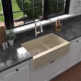 Champagne Double Offset Bowl Kitchen Sinks At Lowes