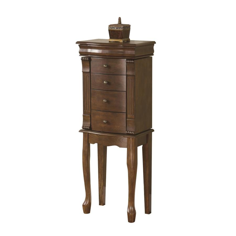 Powell Brown Floor Standing Jewelry Armoire