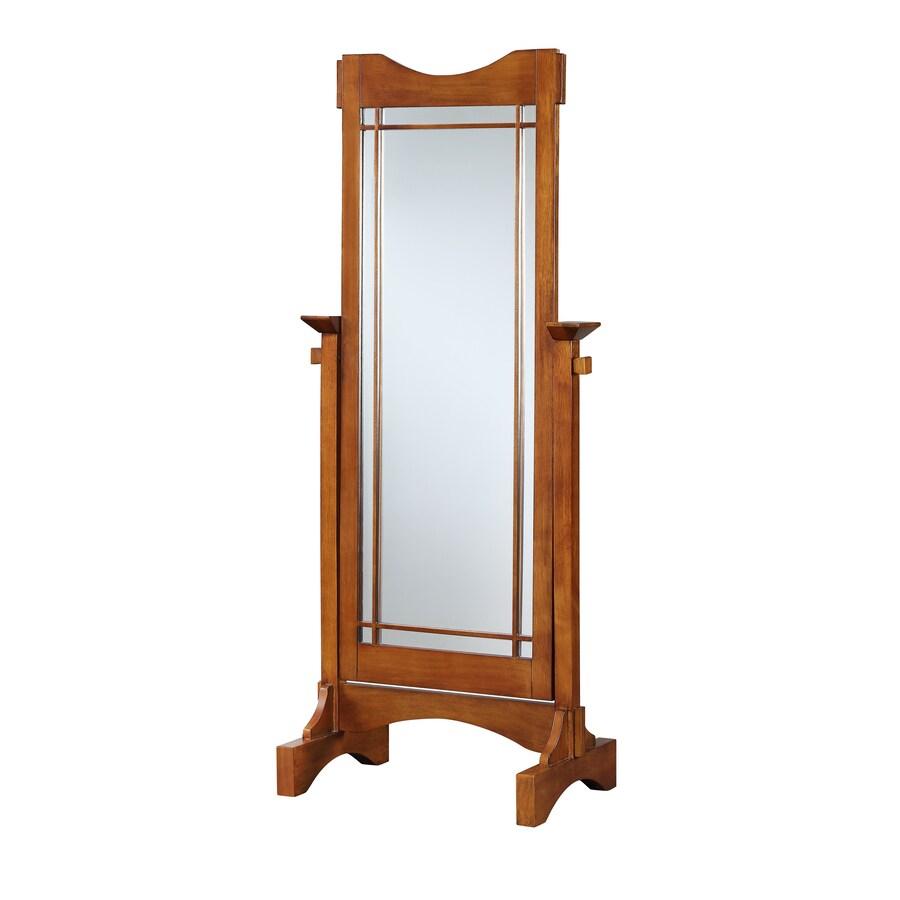 Powell Mission Oak Framed Floor Mirror