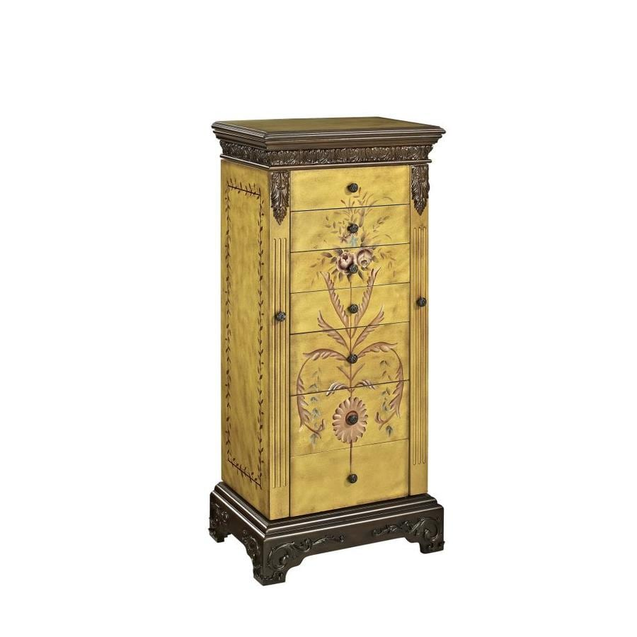 Shop Powell Golden Antique Parchment Floorstanding Jewelry Armoire