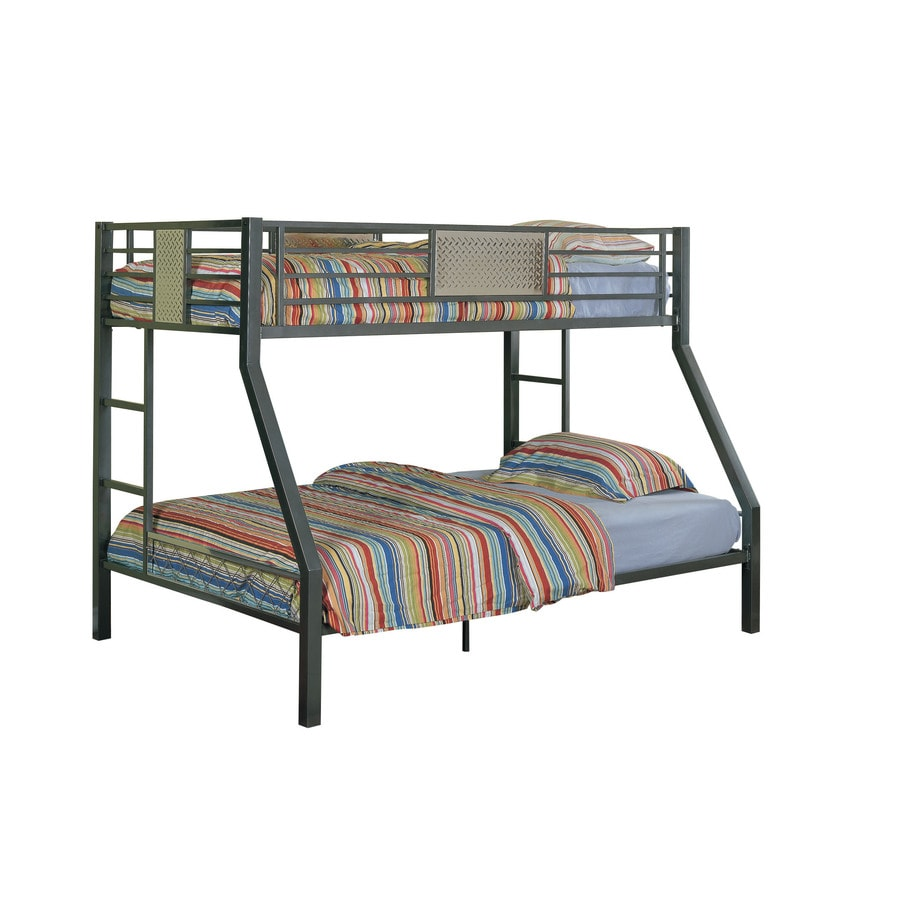 Shop Powell Monster Charcoal Twin Over Full Bunk Bed at Lowes