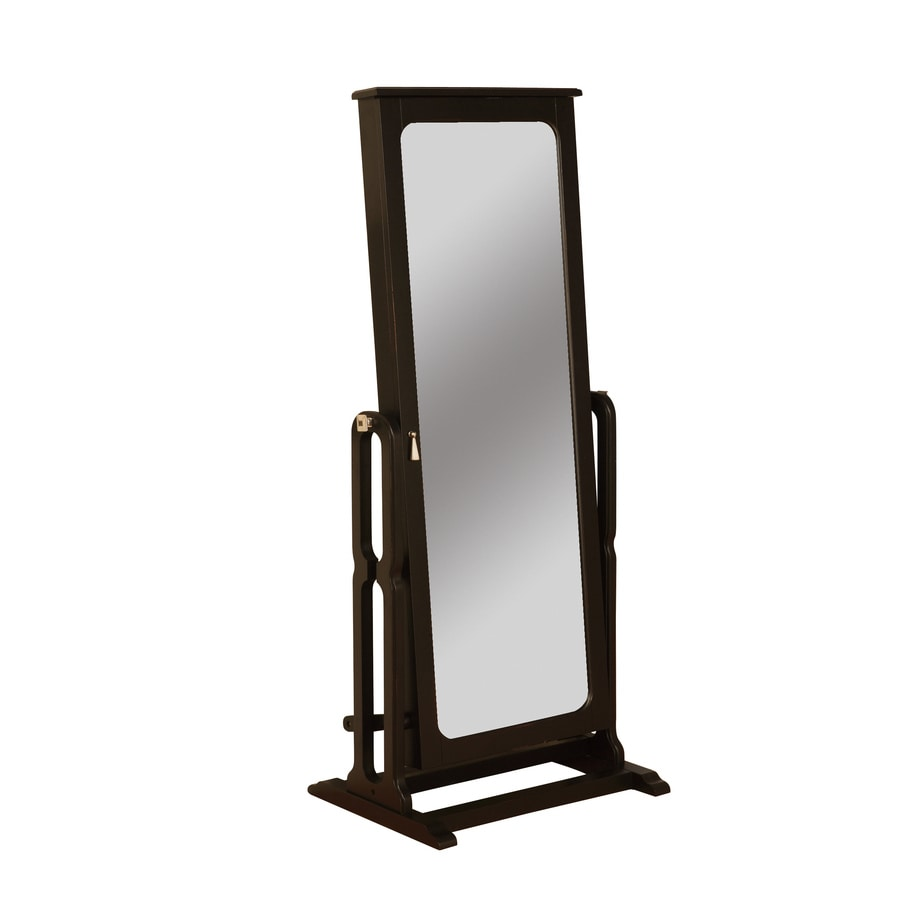 jewelry cabinet mirror shop powell black floorstanding jewelry armoire at 18019