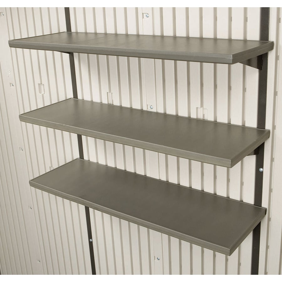Exceptionnel LIFETIME PRODUCTS Brown Resin Storage Shed Shelf