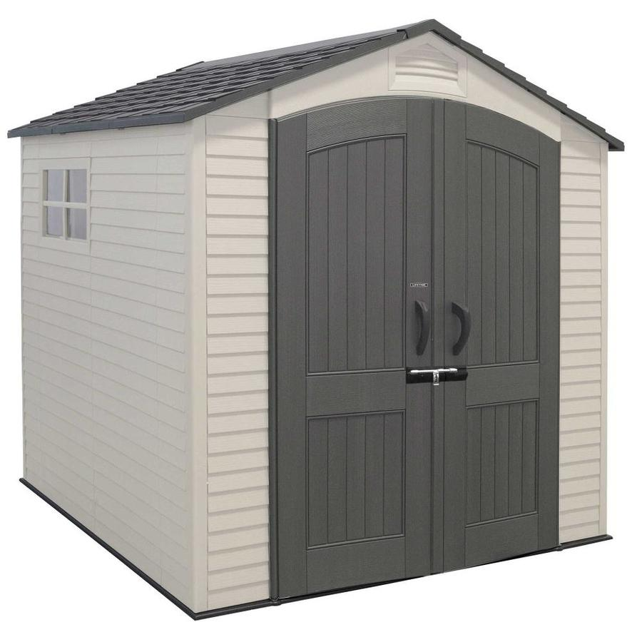LIFETIME PRODUCTS Gable Storage Shed (Common: 7-ft x 7-ft; Interior Dimensions: 6.52-ft x 6.52-ft)