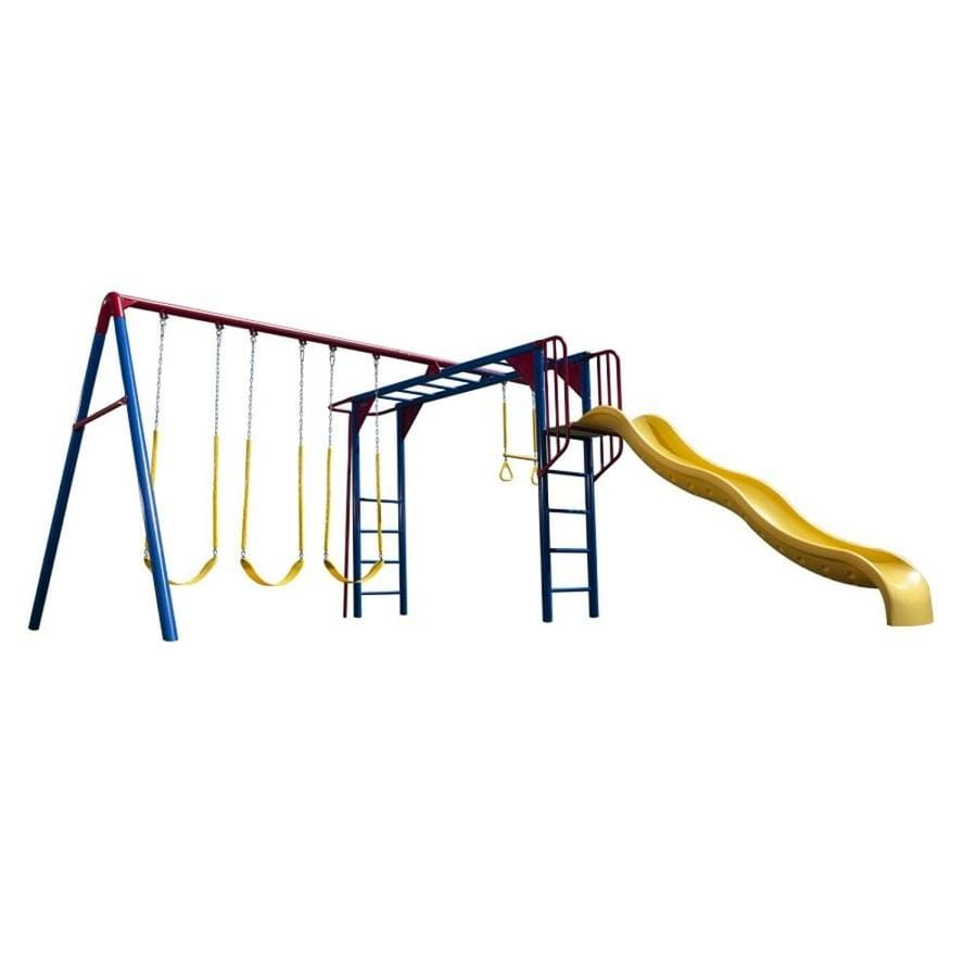 slide natus sportspower metal and baby wayfair set kids reviews swing sets inc pdx rosemead