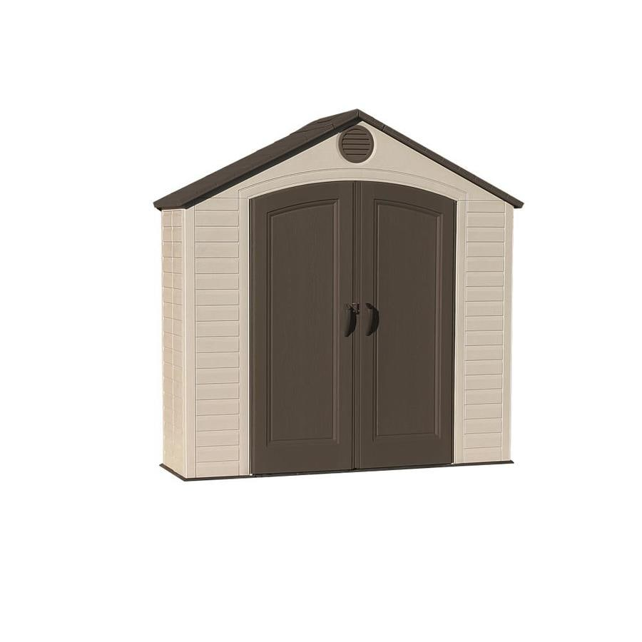 LIFETIME PRODUCTS (Common: 8-ft x 3-ft; Actual Interior Dimensions: 7.5-ft x 2-ft) Gable Storage Shed