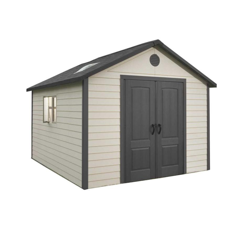 Shop LIFETIME PRODUCTS Gable Storage Shed (Common: 11-ft x 13.5-ft; Actual Interior Dimensions ...