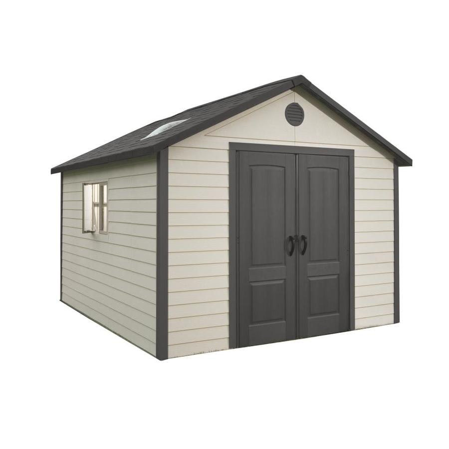 LIFETIME PRODUCTS Gable Storage Shed (Common: 11-ft x 11-ft; Actual Interior Dimensions: 10.04-ft x 10.04-ft)
