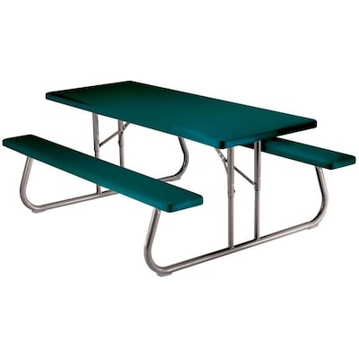 Strange 72 In Green Plastic Rectangle Folding Picnic Table Squirreltailoven Fun Painted Chair Ideas Images Squirreltailovenorg