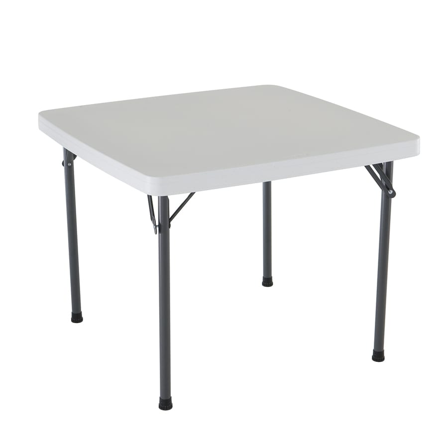Charming LIFETIME PRODUCTS 37 In X 37 In Square Steel White Folding Table