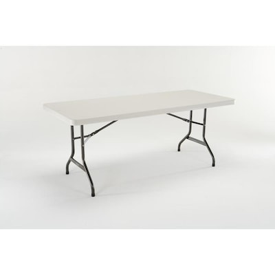 6 Foot Folding Table Lowes.72 In X 30 In Rectangle Plastic Off White Folding Table