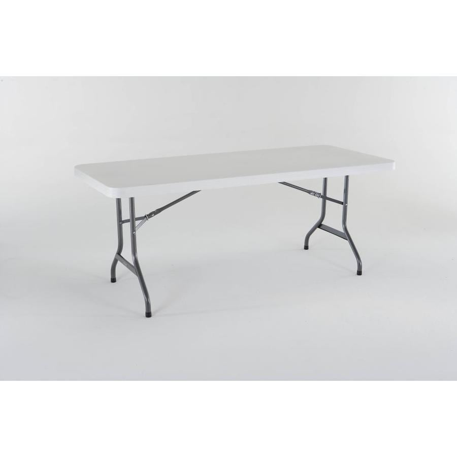 LIFETIME PRODUCTS 72 In X 30 In Rectangle Steel White Folding Table
