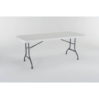 6 Foot Folding Table Lowes.72 In X 30 In Rectangle Plastic White Folding Table