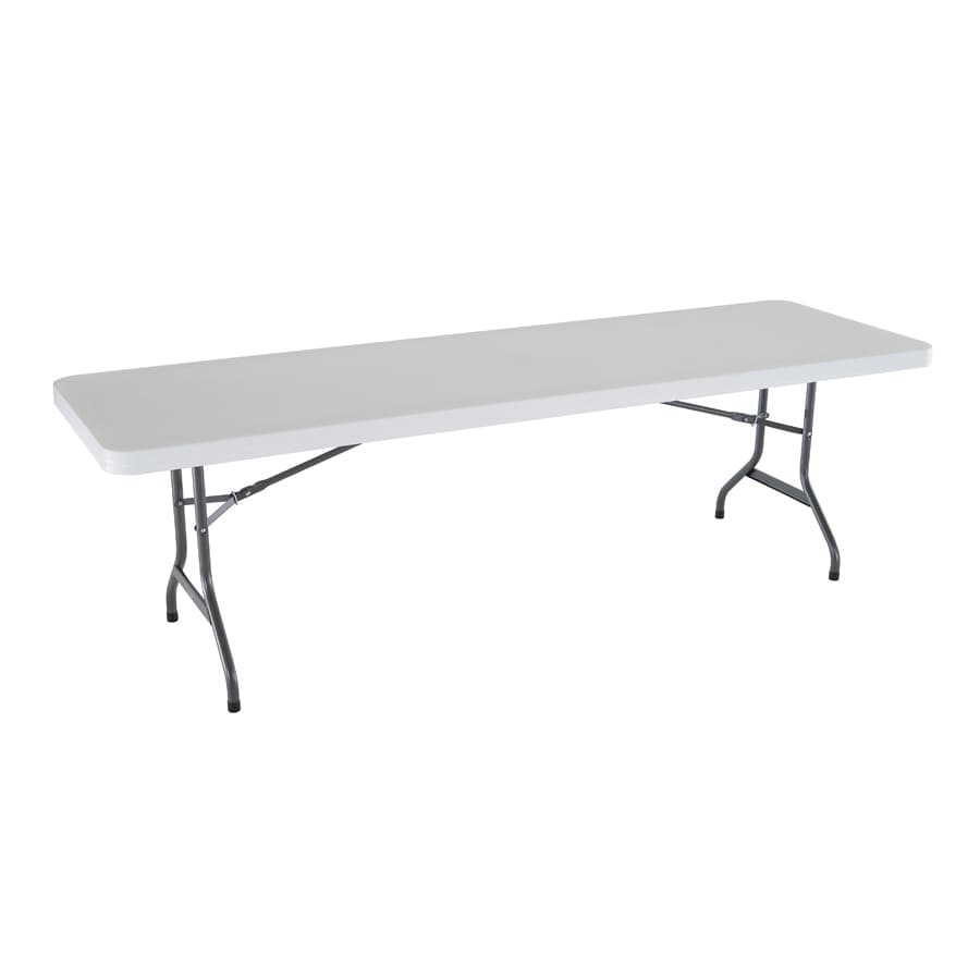 LIFETIME PRODUCTS 96-in x 30-in Rectangle Steel White Folding Table