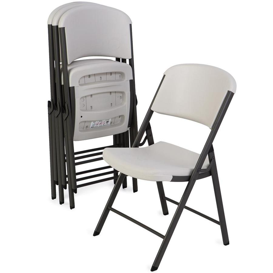 LIFETIME PRODUCTS 4-Pack Indoor/Outdoor Steel Standard Folding Chairs