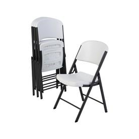 Lovely LIFETIME PRODUCTS Indoor/Outdoor Steel White Granite Standard Folding Chair