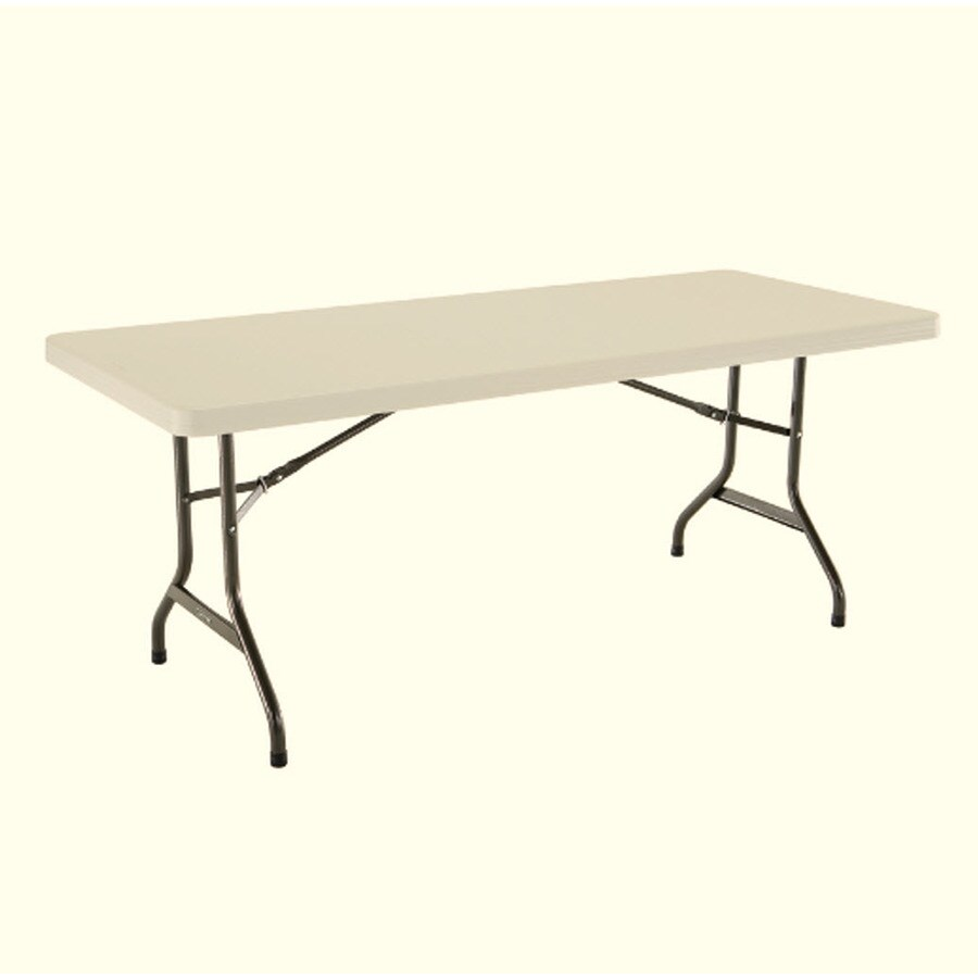 LIFETIME PRODUCTS Set of 4 72-in x 30-in Rectangle Steel White Folding Tables
