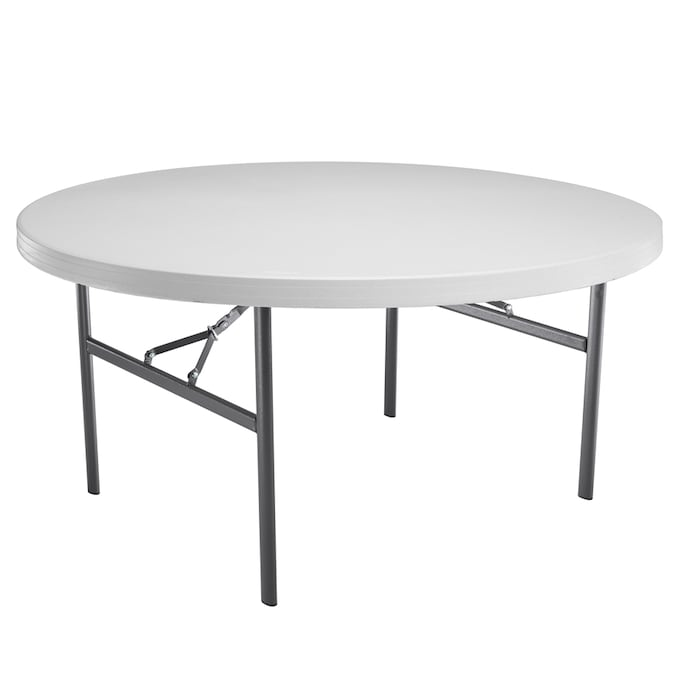 Lifetime Products Pack 60 In X 60 In Circle Resin Folding Table In The Folding Tables Department At Lowes Com